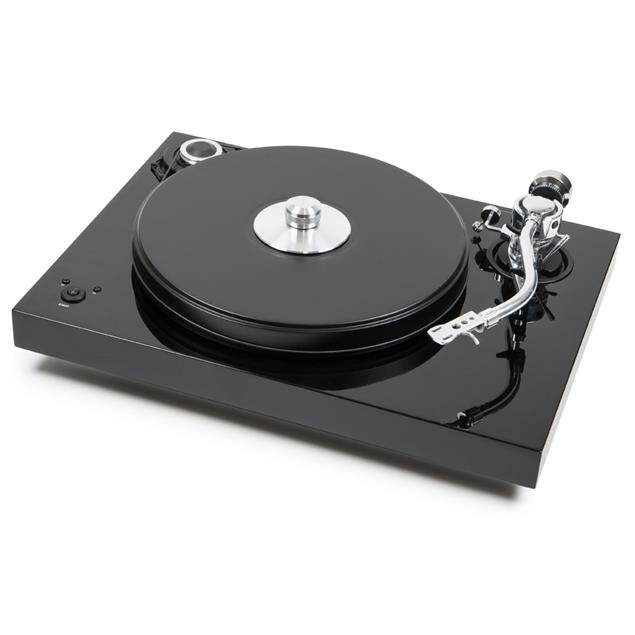 Pro-Ject 2-Xperience SB S-Shape - record player incl. 9 inch S-Shape tonearm + speedbox (high-gloss black / incl. dust cover / without cartridge)