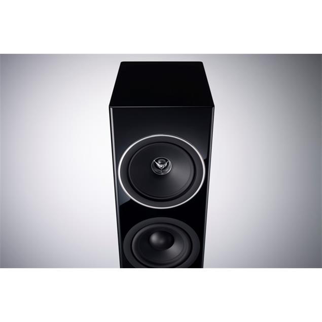 Technics SB-G90 - 3-Way bass reflex floorstanding loudspeakers - Grand Class speaker system (200 Watts max. input power / coaxial / high-gloss black / 1 pair)