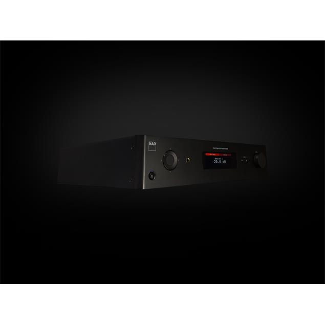 NAD C 368 - hybrid digital DAC amplifier (2 x 80 Watts / Hi-Res Audio / Bluetooth® aptX® / optional BluOS module / MQA / roon ready /graphite black housing)