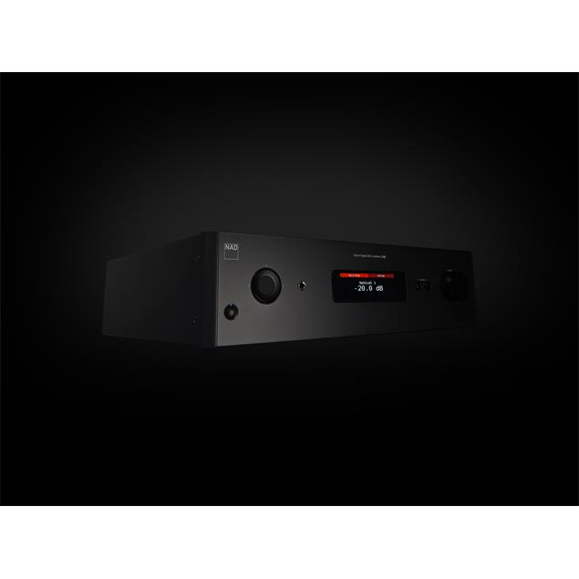 NAD C 388 - hybrid digital DAC amplifier (2 x 150 Watts / Hi-Res Audio / Bluetooth® aptX® / optional BluOS module / MQA / roon ready / graphite black housing)