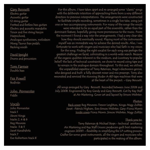 "Rega ""A Bend In The River"" - Song arrangements by Gary Bennett - LP (8 tracks / 180 gram vinyl / gatefold LP / new & sealed / 33 rpm)"
