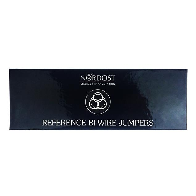Nordost Reference - Bi-Wire Jumpers (4 pieces / spade to banana / white/black)