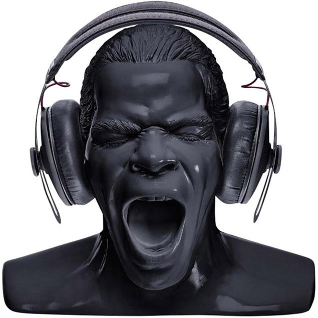 """Oehlbach 35403 - Scream - headphone stand in the form of the """"Oehlbach head"""" (black)"""