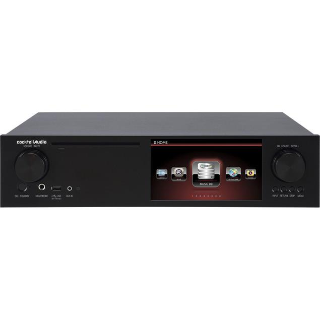 Cocktail Audio X35 without hard drive (black / all-in-one HD music server with amplifier/CD ripper/DAC/DAB+/FM/DSD/PCM/FLAC/MM phono input/TIDAL/Qobuz/Highres Audio)