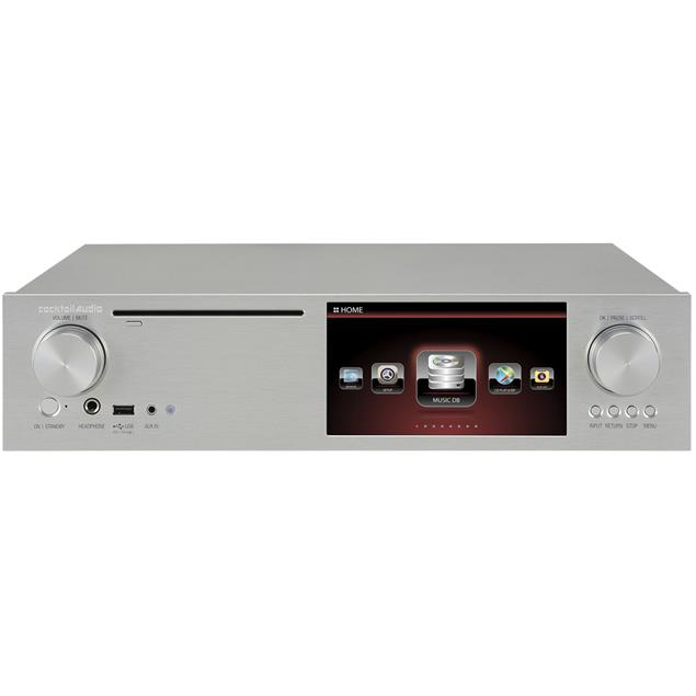 Cocktail Audio X35 without hard drive (silver / all-in-one HD music server with amplifier/CD ripper/DAC/DAB+/FM/DSD/PCM/FLAC/MM phono input/TIDAL/Qobuz/Highres Audio)