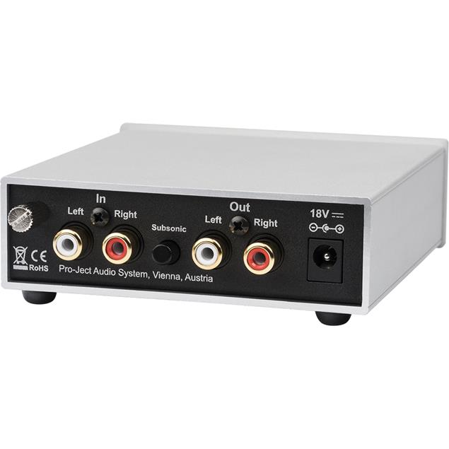 Pro-Ject Phono Box S2 - MM/MC phono preamplifier (MM/MC / 4 adjustable gain levels / silver)