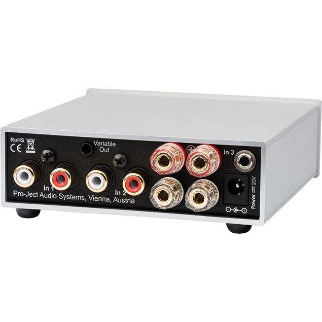 Pro-Ject Stereo Box S2 - high end integrated amplifier (incl. 3 line inputs / incl. IR remote control / silver)