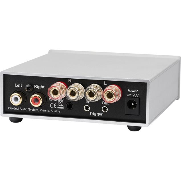 Pro-Ject Amp Box S2 - stereo power amplifier (2 x 26 Watts/43 Watts at 8/4 Ohms / silver)