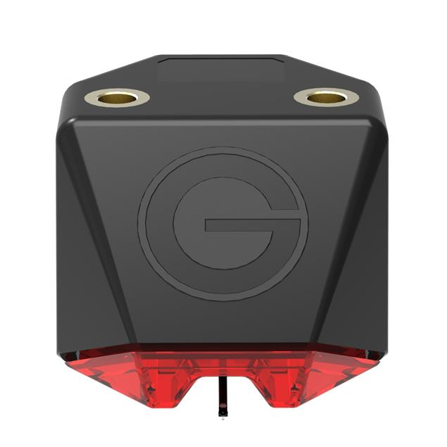 GOLDRING E1 Red - MM cartridge system for record players (needle carrier made of carbon with spherical needle / for medium to heavy tonearms / MM / red)