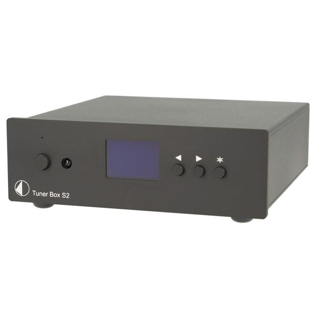 Pro-Ject Tuner Box S2 - micro-sized FM tuner (high-contrast dot-matrix display / incl. IR remote control / incl. power supply / black)