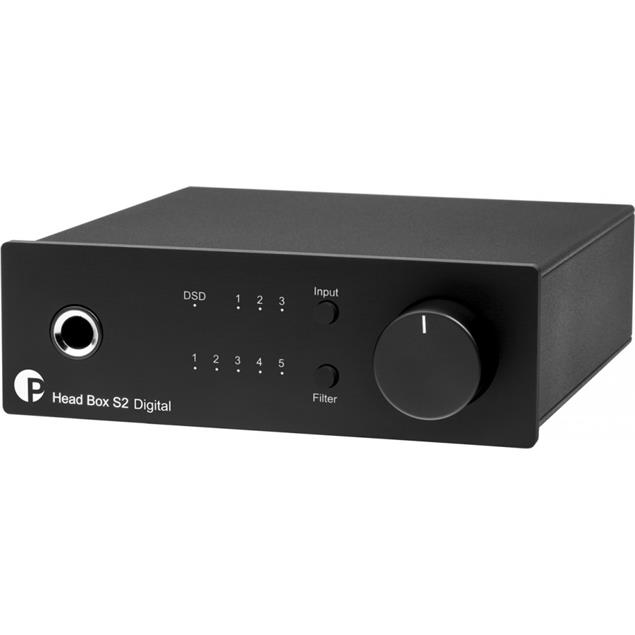 Pro-Ject Head Box S2 Digital - digital headphone amplifier (incl. DAC with 32bit / Roon ready / Hi-Res / DSD256 support / black)