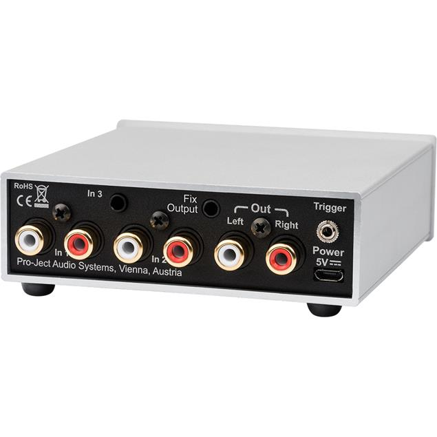 Pro-Ject Pre Box S2 Analogue - stereo line preamplifier (with 3 high level inputs / + SMD technology / incl. IR remote control / black)