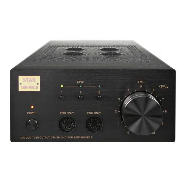 STAX SRM-007t II - audiophile headphone amplifier (with 4 tubes / black front with black housing)