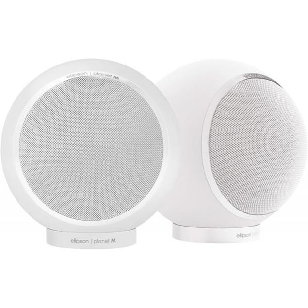 Elipson Planet M - bookshelf loudspeakers (2 way / 30-80 W / 1 pair / glossy white)