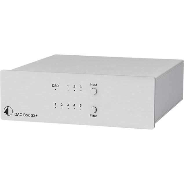 Pro-Ject DAC Box S2+ - High End D/A converter (32bit / DSD256 Support / silver)