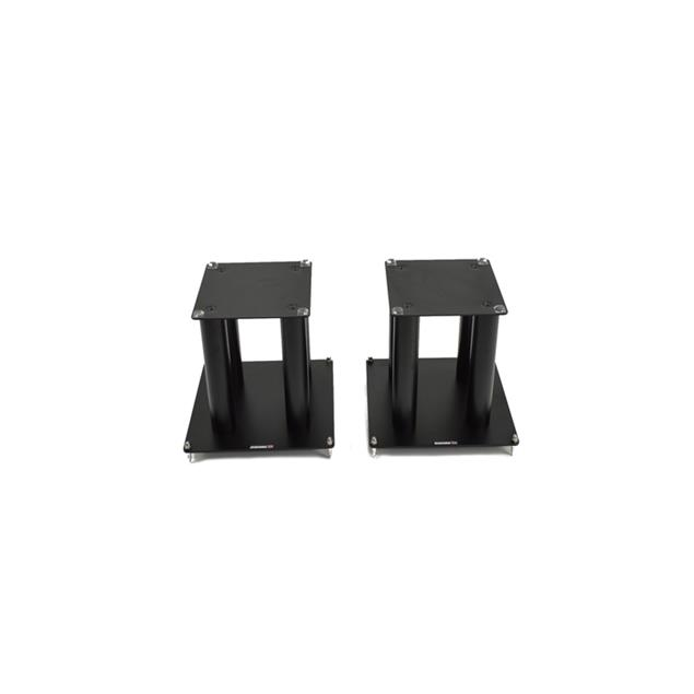 Atacama SLX300 - loudspeaker stands (345 mm / black / incl. large top plates for bigger loudspeakers / four support columns per stand / 1 pair)