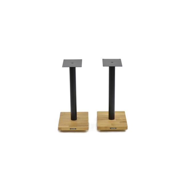 Atacama APOLLO - CYCLONE 5 - high-quality loudspeaker stands (515 mm / black & base plate made from light solid oak / incl. spikes / 1 pair)
