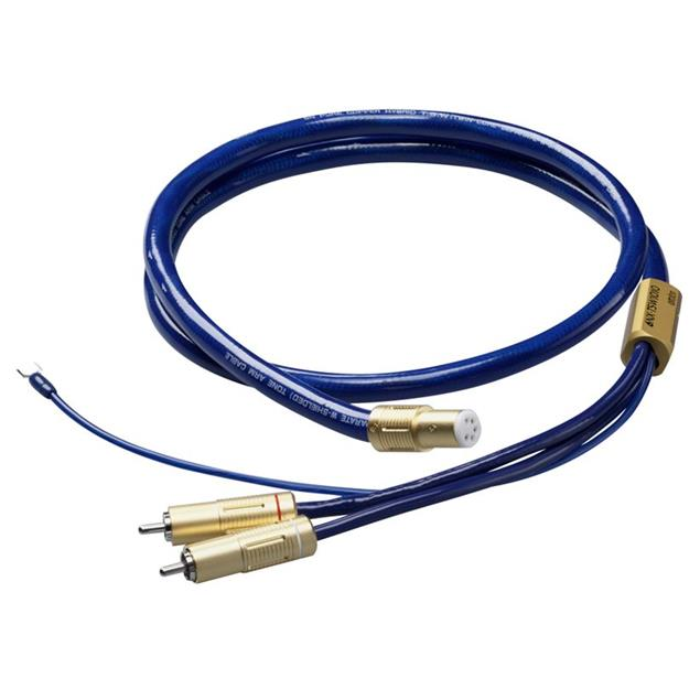 Ortofon 6NX-TSW 1010 - tonearm cable with ground lead (RCA/5-Pin / 1.20 m / blue/gold)