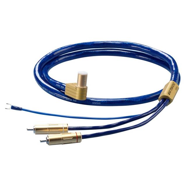 Ortofon 6NX-TSW 1010L - tonearm cable with ground lead (RCA/5-Pin L-shape / 1.20 m / blue/gold)