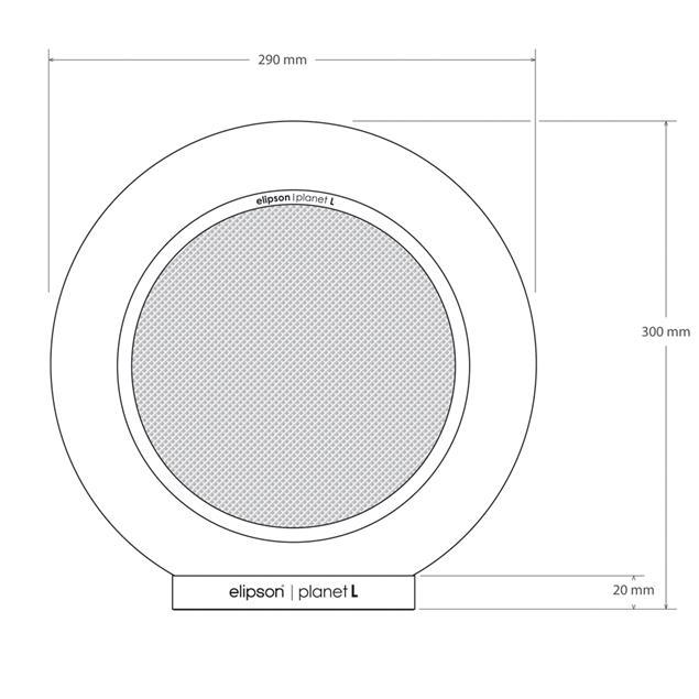 Elipson Planet L - 2-way bookshelf loudspeakers (red / 30-80 Watts / 1 pair)