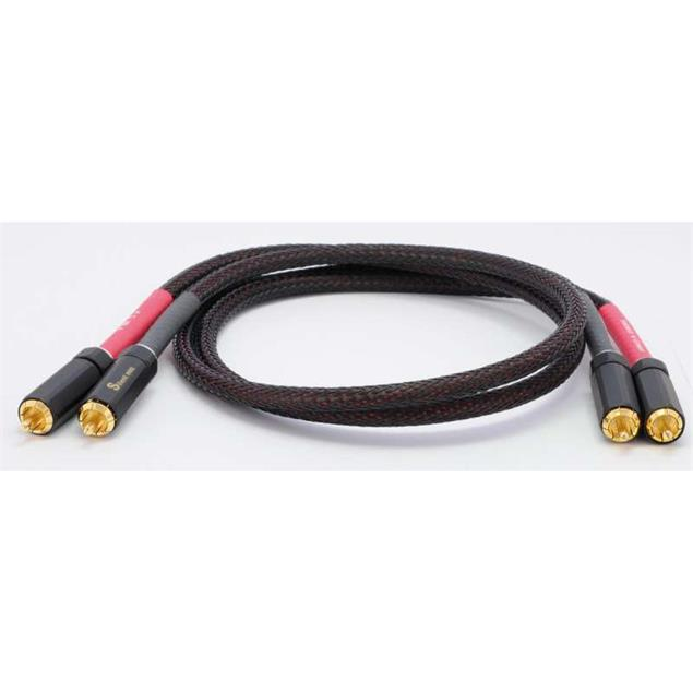 Silent Wire NF5 - RCA audio cable (RCA-RCA / 1.0 m / black/red)