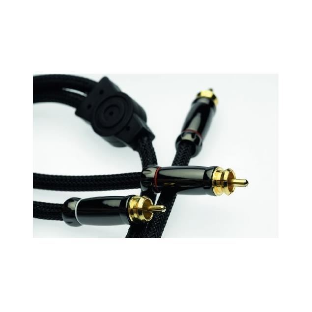 Silent Wire SERIE 4 MK2 - RCA subwoofer cable (1 x RCA to 2 x RCA / 5.0 m / black)