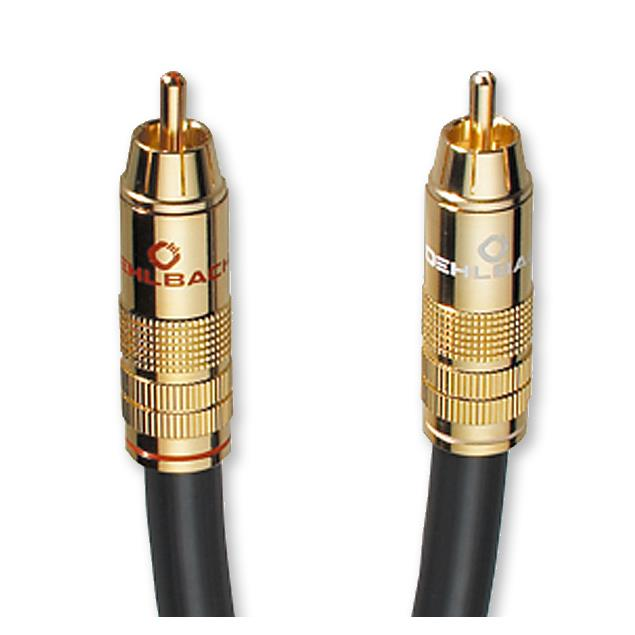 Oehlbach 204501 - NF 214 Sub - Subwoofer cinch cable (1x RCA to 1x RCA / 1.0 m / anthrazit/gold)