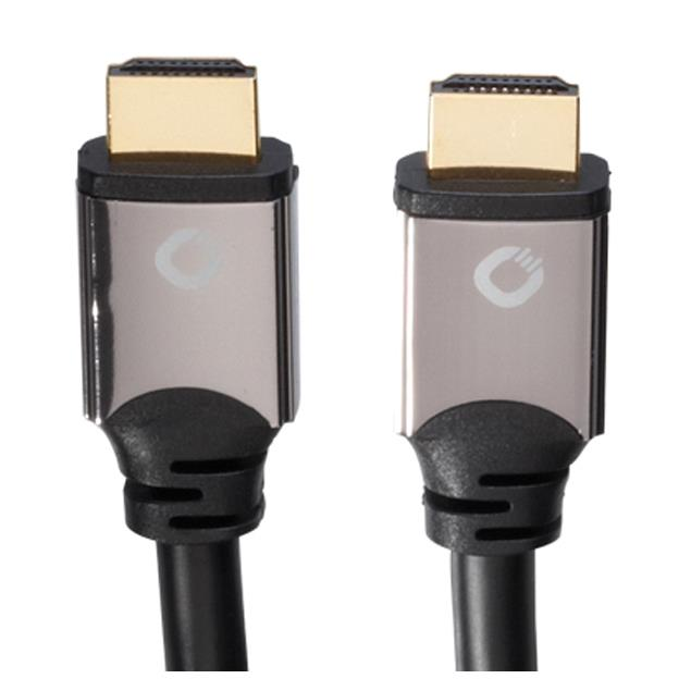 Oehlbach 92454 - Black Magic - High-Speed-HDMI®-Cable with Ethernet (2.20 m / black/gold)