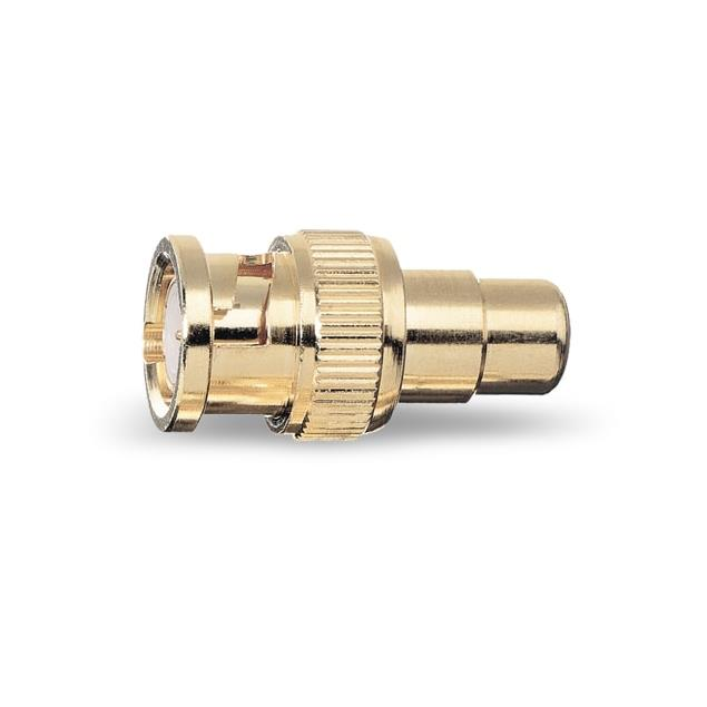 Oehlbach 8601 - BNC ADP-1 - adapter cinch coupling to BNC plug (2 pieces / gold)