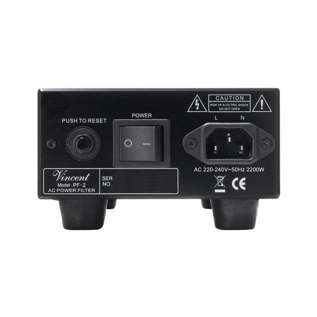 Vincent PF-2 - power filter (max. 2200 Watts / black)