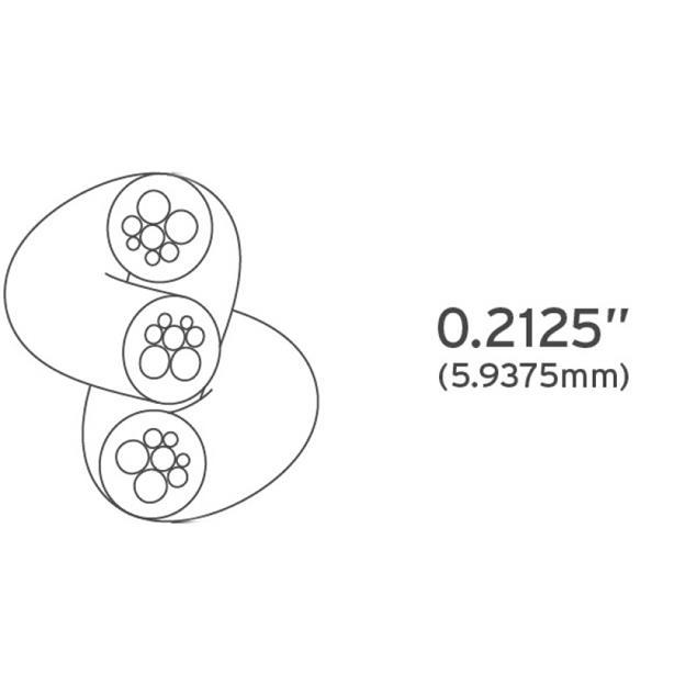 Kimber Kable Tonik - XLR audio cable (XLR-XLR / 1.0 m / white-transparent / 1 pair)