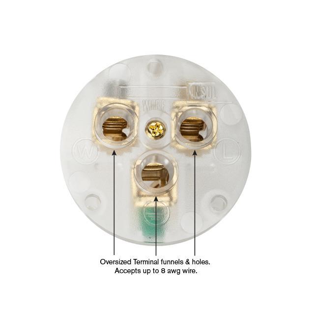 Wattgate 320 evo - earthed mains plug IEC-320 (1 piece / black)