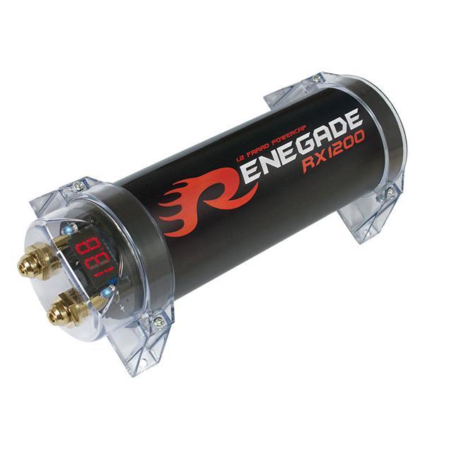 Renegade RX1200 - power capacitor (1.2 farad capacity / high-quality powercap)