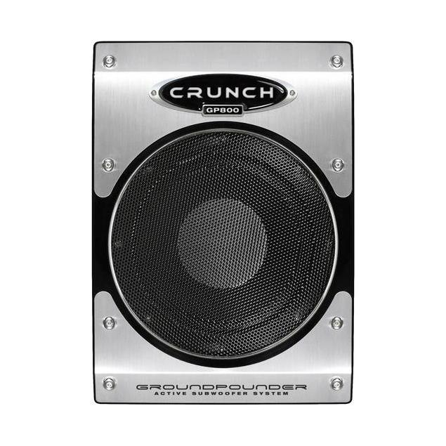 CRUNCH GP800 - active Subwoofer (20 cm / 100 Watts RMS / 200 Watts max / black/silver)