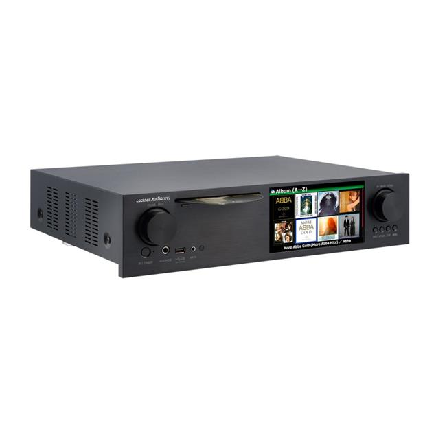 Cocktail Audio X45 without hard drive (black / all-in-one HD music server with Dual Mono DAC/CD ripper/DAC/DAB+/FM/DSD/PCM/FLAC/MM phono input/TIDAL/Qobuz/Highres Audio)