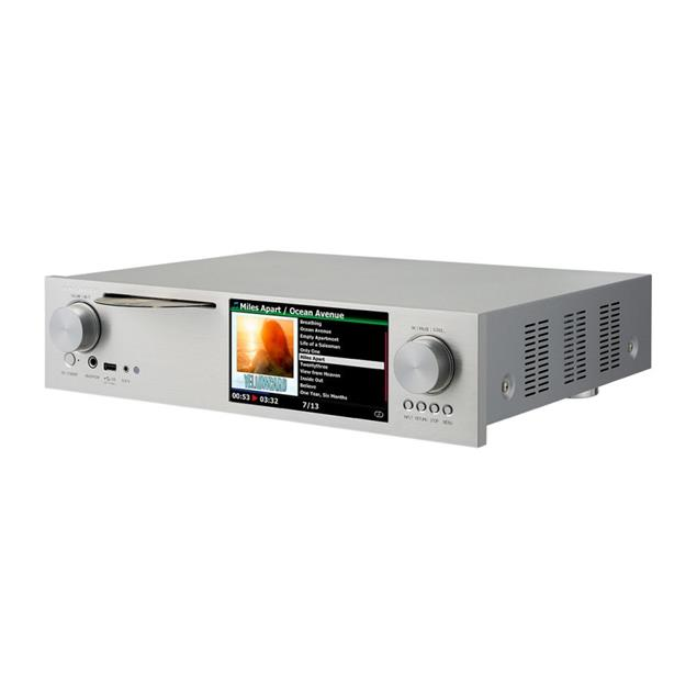 Cocktail Audio X45 without hard drive (silver / all-in-one HD music server with Dual Mono DAC/CD ripper/DAC/DAB+/FM/DSD/PCM/FLAC/MM phono input/TIDAL/Qobuz/Highres Audio)