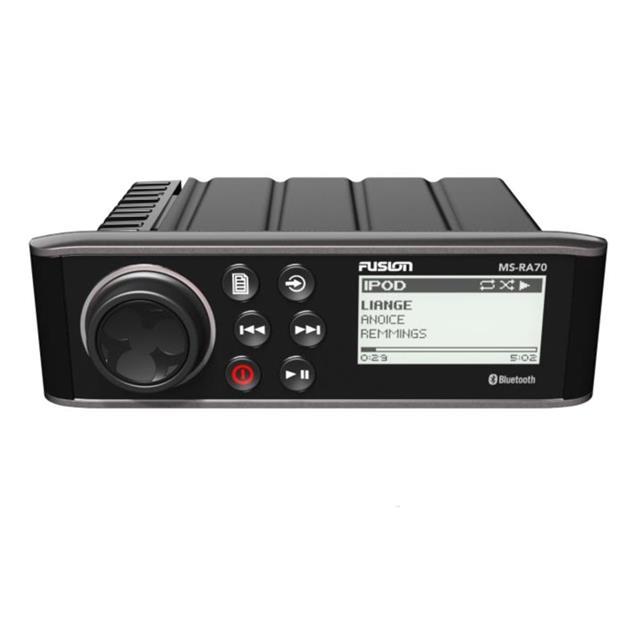 FUSION MS-RA70 - Marine Entertainment System (Bluetooth A2DP / 200 Watts / AM/FM / AUX / black)