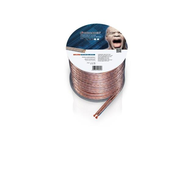 Oehlbach 305 - Speaker Wire SP-40 3000 - Loudspeaker cable flexible Mini-coil (30m / transparent / copper / 2 x 4qmm)