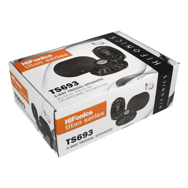 HiFonics TS693 - 3-way triaxial speakers (TITAN series / 16x23 cm / 125W/RMS / 250 W/MAX)