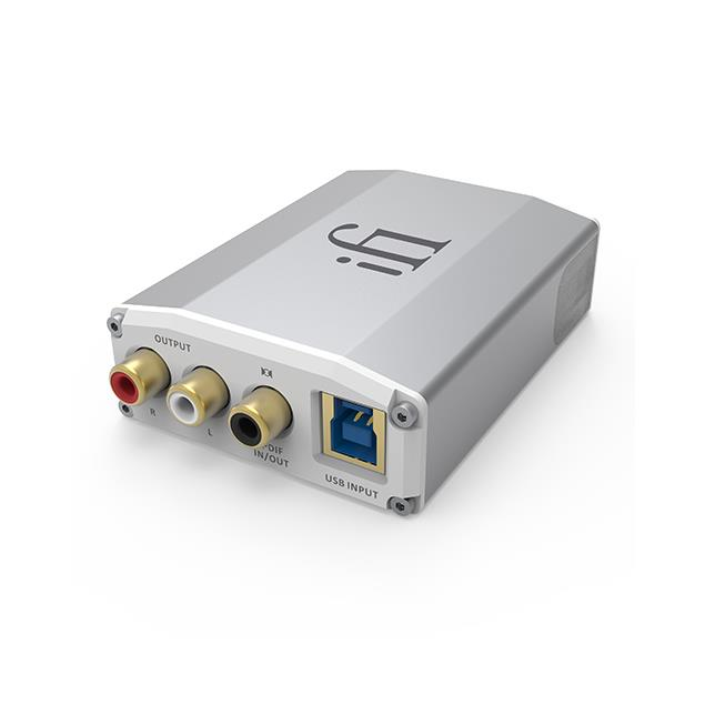 iFi-Audio Nano iOne - digital-analogue-converter (USB / Bluetooth / Hi-Res / S/PDIF / silver)