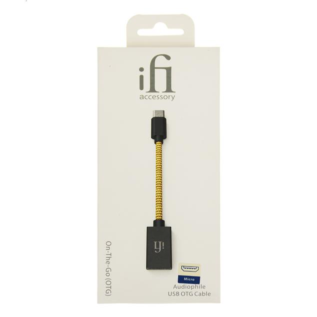 "iFi-Audio OTG - audiophile ""On-The-Go"" USB cable (USB-A to Micro-USB / 12 cm / yellow/grey)"