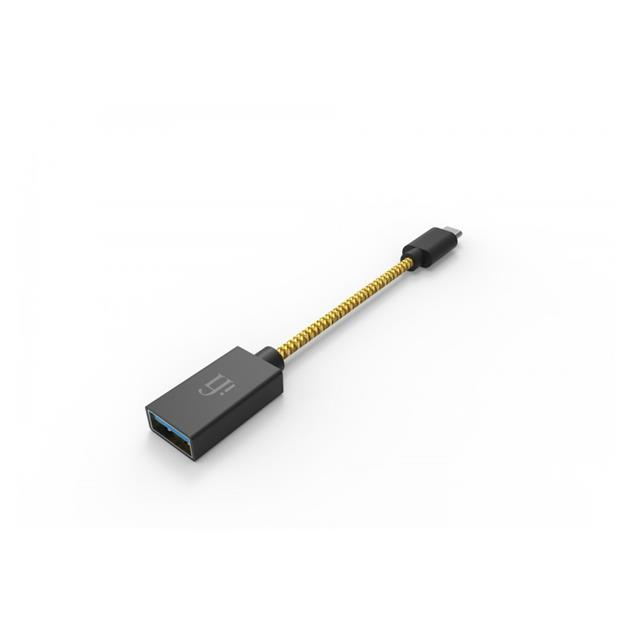 """iFi-Audio OTG - audiophile """"On-The-Go"""" USB cable (USB-A to Micro-USB / 12 cm / yellow/grey)"""