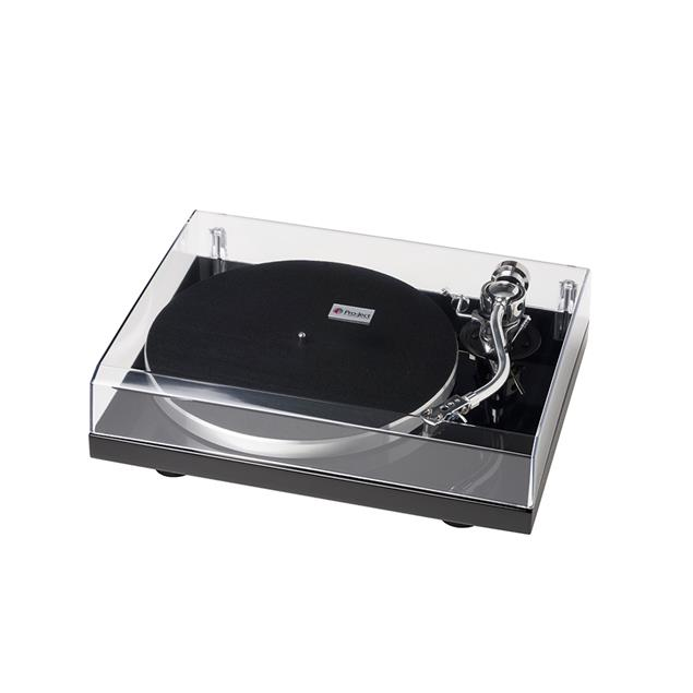 Pro-Ject 1-Xpression Classic S-Shape - manual turntable (S-Shape aluminum tonearm / high-gloss black piano lacquer / Ortofon 2M Silver MM-cartridge / incl. dust cover)