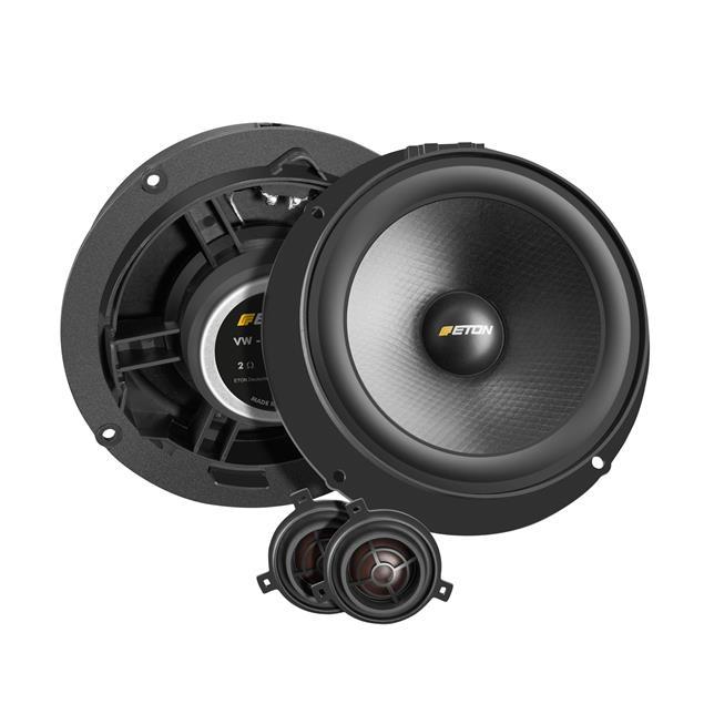 Eton UG VW GOLF 6 R 2.2 - 2-way rear loudspeaker system for VW Golf 6, Passat 3C, Scirocco 2, Tiguan (2 x 145 mm woofer / 2 x 25 mm tweeter / 80 W)