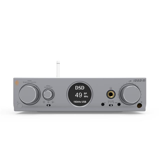 iFi-Audio Pro iDSD - reference D/A converter & headphone amplifier (Hi-Res / WiFi / Airplay / MQA / DLNA / SD card slot / USB / DAC / tubes / silver)