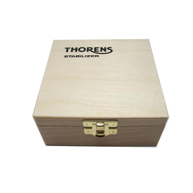 THORENS stabilizer - record load-bearing weight (for record players / in gold / delivered in a wooden box)