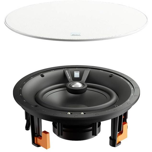 """DALI Phantom E-80 - built-in loudspeakers (30 - 150 W / 8"""" / white / 1 pair / for wall installation & ceiling installation / incl. cut-out template + logo badge)"""