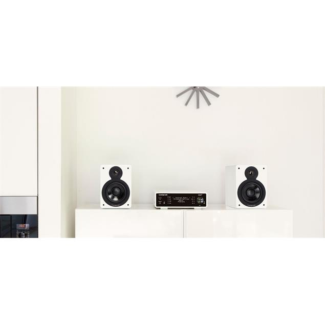 Cambridge Audio MINX XL - 2-way compact loudspeakers (high-gloss white / recommended amplifier power 10-100 Watts / 1 pair)