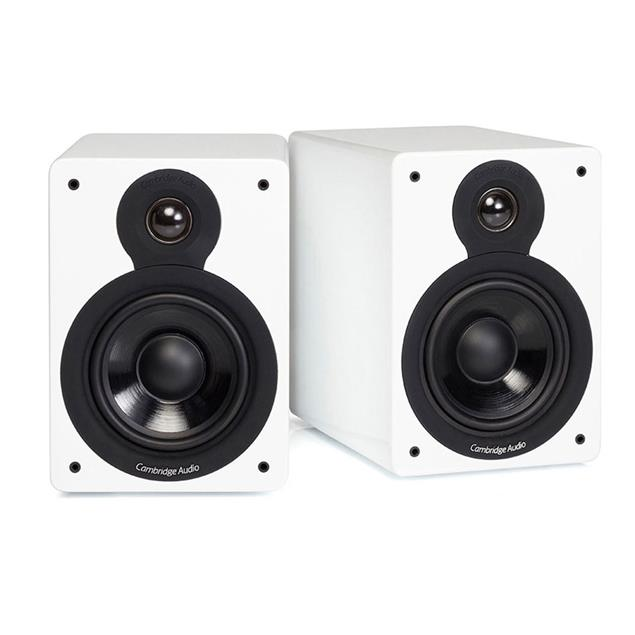 Cambridge Audio SET: ONE - all-in-one music system (white) + MINX XL - 2-way compact loudspeakers (high-gloss white / 1 pair)