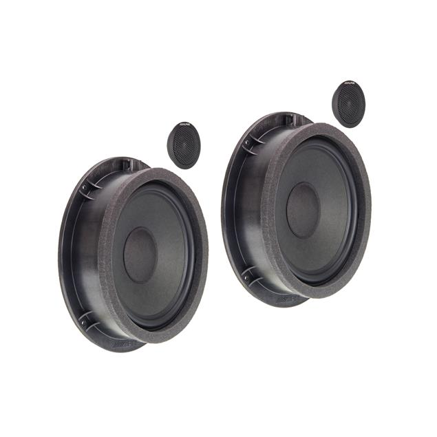 ALPINE SPC-100AU - 2-Way high end front component speaker system for Audi A4, A5 and Q5 (premium sound upgrade / tweeter / plug & play)